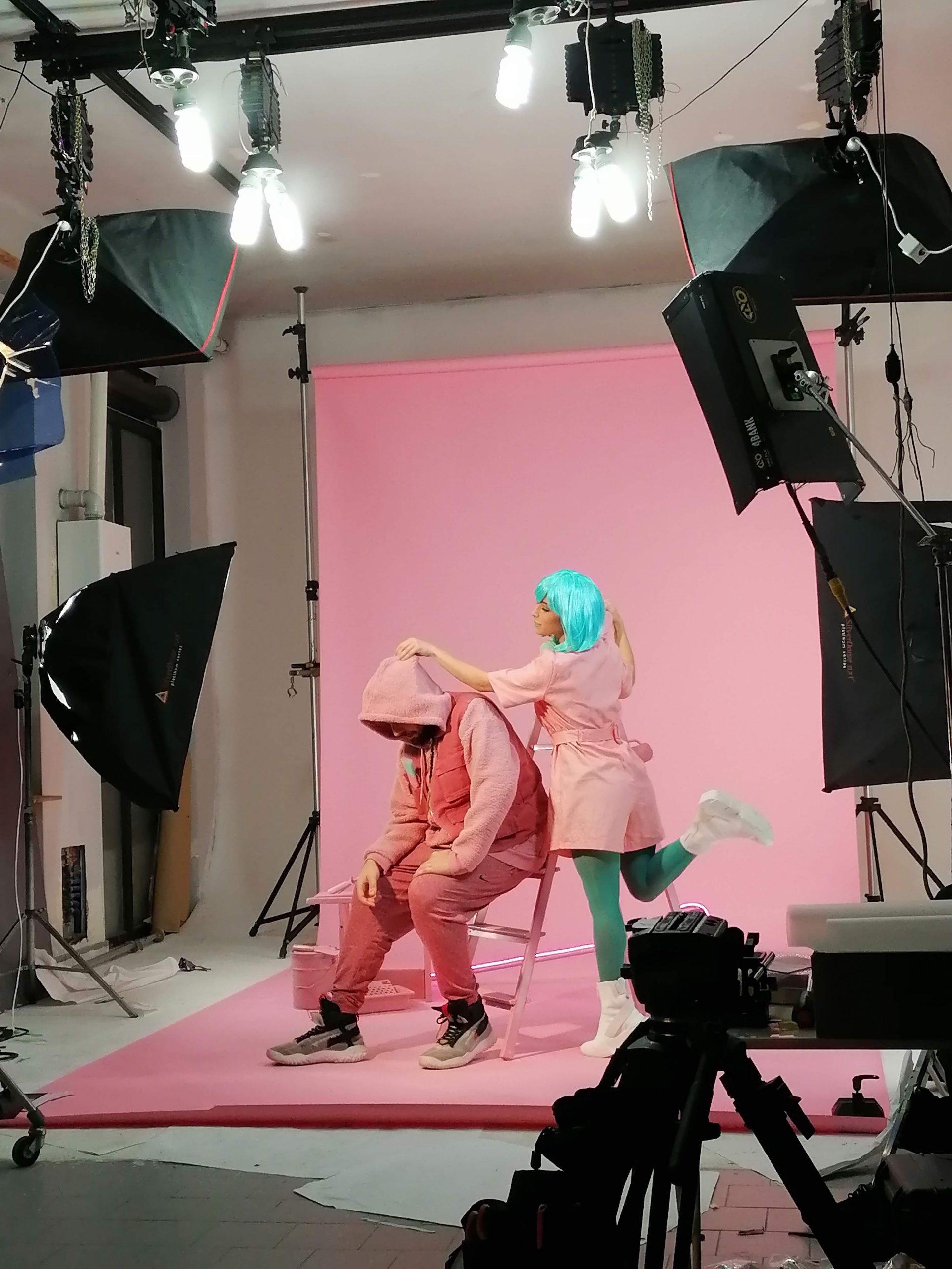 shooting colibrì12 videoclip backstage